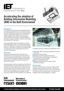 IET factfile: Accelerating the adoption of Building Information Modelling (BIM) in the Built Environment