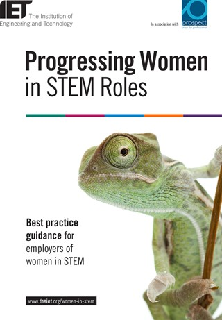 Progressing Women in STEM roles - best practice guide cover