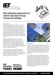 IET factfile: Data integration approaches for the smarter operation of large commercial buildings