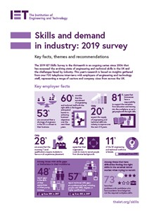 IET factfile: Skills and Demand in Industry Survey 2019 - issues and actions