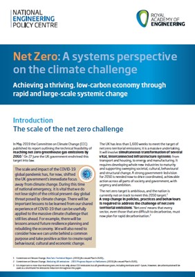 net zero a systems perspective on the climate challenge