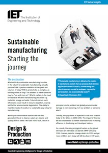 IET factfile: Sustainable manufacturing - starting the journey