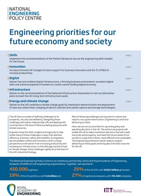 Engineering priorities front cover