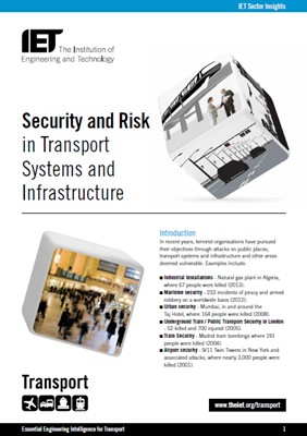 IET factfile: Security and risk in transport systems and infrastructure