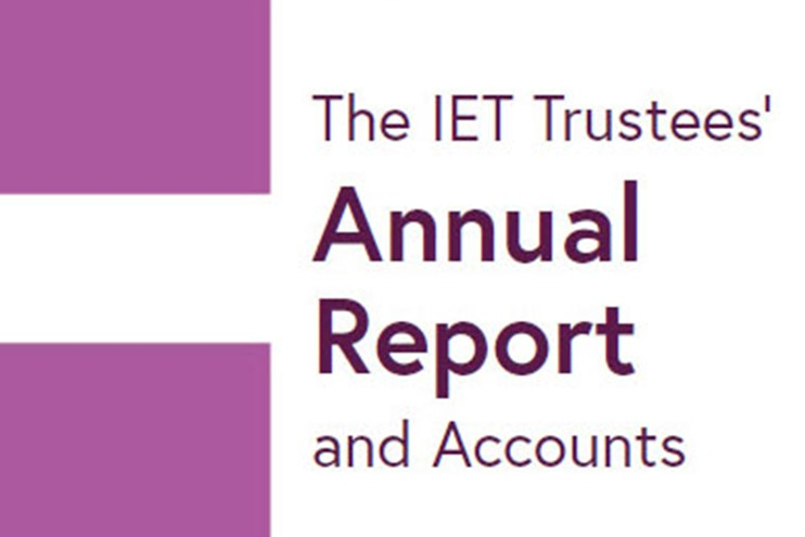2018 IET Annual Report cover image